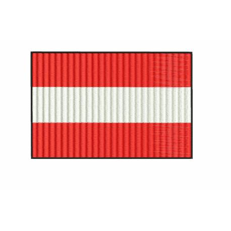 Austria National Flag Embroidery Design
