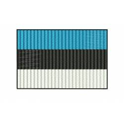 Estonia National Flag Embroidery Design