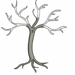 Dead Tree Machine Embroidery Design