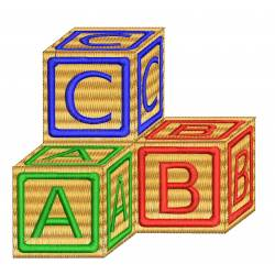 ABC School Machine Embroidery Design
