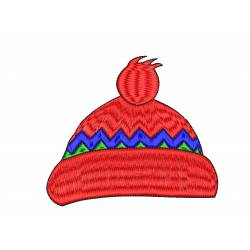 Winter Cap Embroidery Design