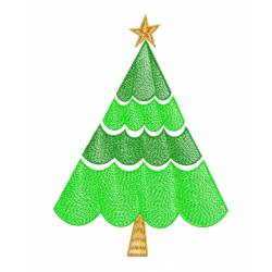 Christmas Tree Embroidery design_Embroideryshristi