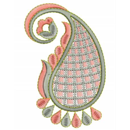 Paisley Embroidery Design Freebie