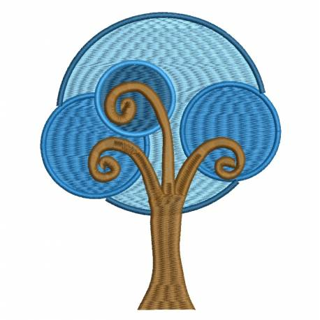 Blue Tree Clip art Embroidery Design