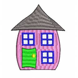 Cartoony House Embroidery Design
