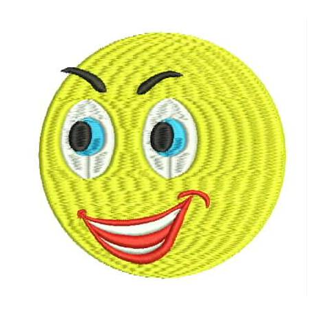 Happy Face Emoji Embroidery Design
