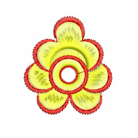 Small 2x2 Yellow Flower Embroidery 2020