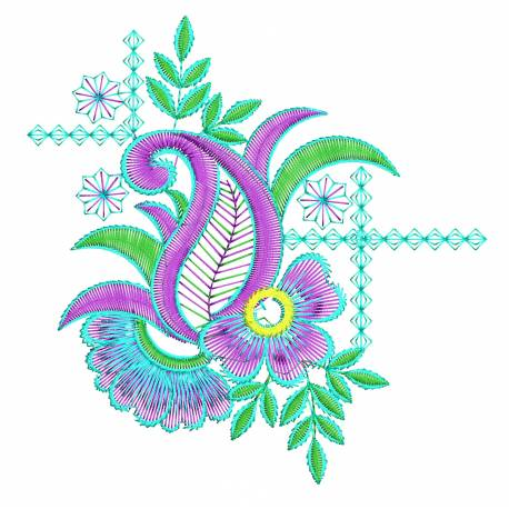 Latest Floral Machine Embroidery Design5x7