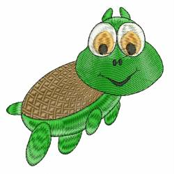 Cartoon Turtle Machine Embroidery Design