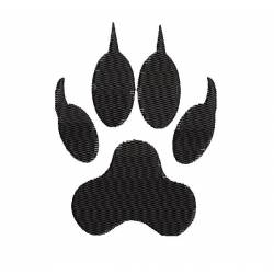 Wolf Footstep Embroidery Design