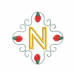 Christmas Monogram Alphabet N