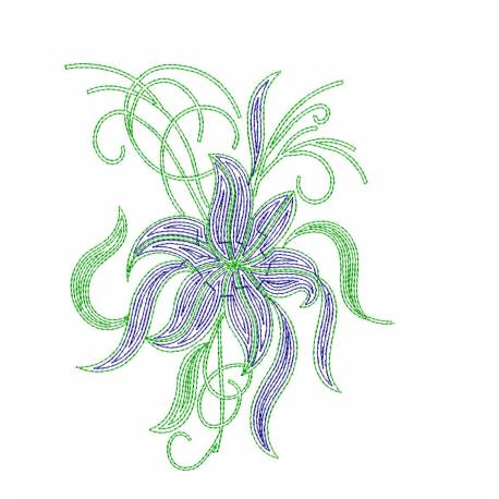 Floral Machine Embroidery Design 2022