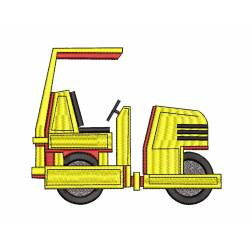 Road Roller Embroidery Design 5x7