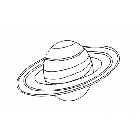 Saturn Planet Embroidery