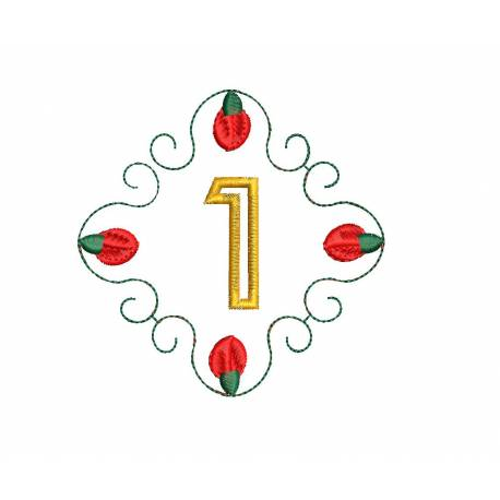Christmas Monogram Number 1