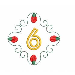 Christmas Monogram Number 6