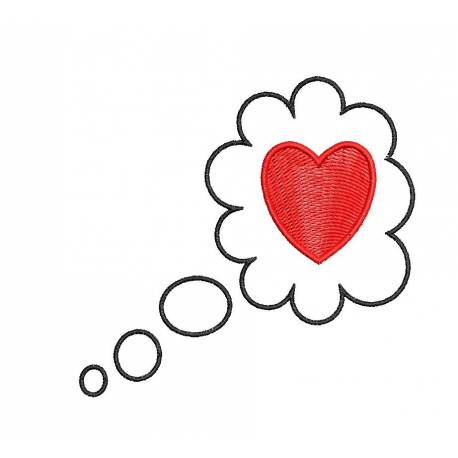 Thoughtful Heart Embroidery Design