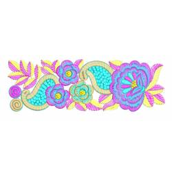 Nice Rose Flower Embroidery Border Design