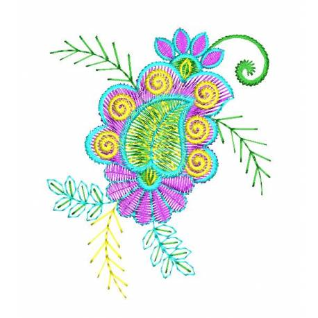 2021 Freebie Flora Embroidery Design