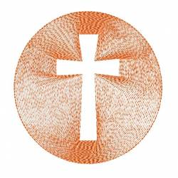 Cross Within Circle Embroidery Design