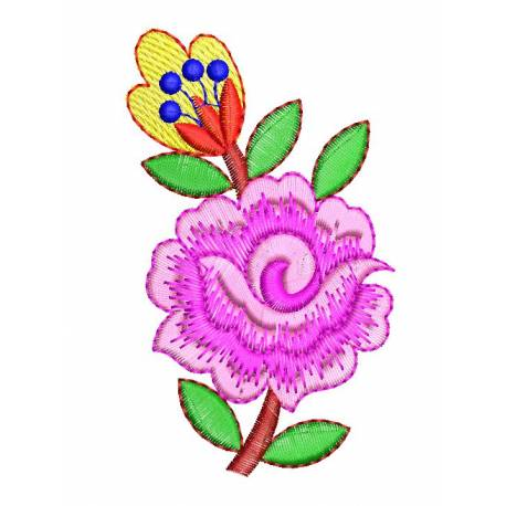 Nice Rose Floral Machine Embroidery Design