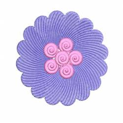 Latest Circle Flower Embroidery Design