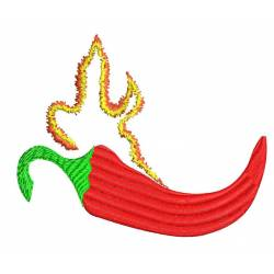 Hot Red Chili Pepper Embroidery Design