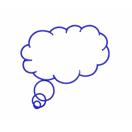 Thinking Cloud Frame Embroidery Design