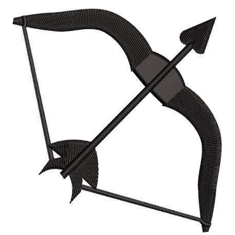 Silhouette Bow & Arrow Heart Embroidery Design