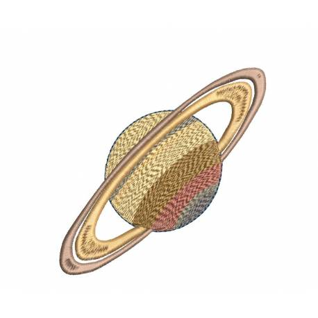 Saturn Planet Machine Embroidery design