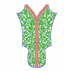 Neckline Border Machine Embroidery Design