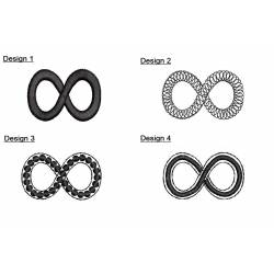 Different Infinity Symbols Embroidery Designs Set