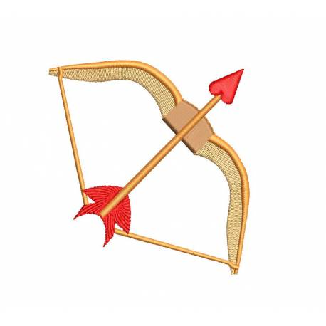 Love Bow and Arrow Embroidery Design
