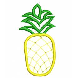 Pineapple Outline Machine Embroidery