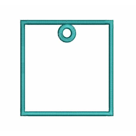 Square Frame Hoop For Keychain