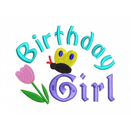 Birthday Girl Quote Embroidery Design