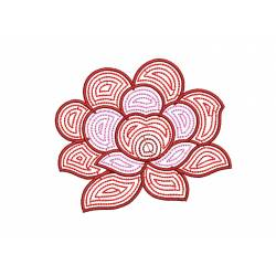 Flower Outline Machine Embroidery Design