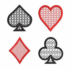 Playing Cards Icons Filled With Motif Design