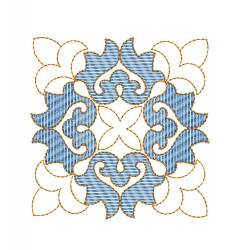 New Square Block Floral Embroidery Design