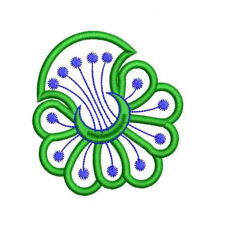 New Flower Outline EMbroidery For Lady Clutch