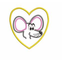 Cartoon Mouse Outline Machine Embroidery