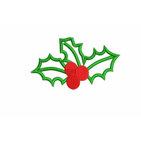 Christmas Red Cherry Machine Embroidery Design
