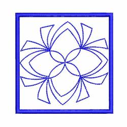 New Square Block Outline Embroidery Design