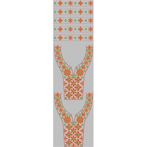Neck line Embroidery Design 13